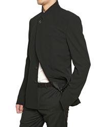 Dior Homme - Black Serge Crepe Wool Buckle Jacket for Men - Lyst