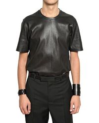 Dior Homme | Black Short Sleeved Stretch Nappa Shirt for Men | Lyst