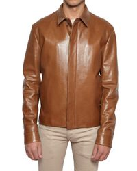 Dior Homme - Brown Nappa Leather Jacket for Men - Lyst
