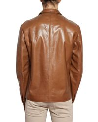 Dior Homme | Brown Nappa Leather Jacket for Men | Lyst
