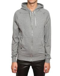 Dior Homme - Gray Bee Embroidered Hooded Sweatshirt for Men - Lyst