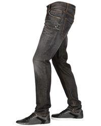 Dolce & Gabbana | Black 18cm Gold Baffo Washed Denim Jeans for Men | Lyst