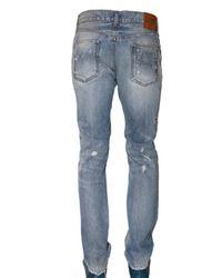 Dolce & Gabbana - Blue 19cm Distressed Denim Gold Fit Jeans for Men - Lyst