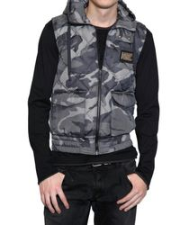 Dolce & Gabbana | Green Camouflage Nylon Vest Sport Jacket for Men | Lyst