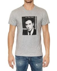 Dolce & Gabbana | Gray Printed Al Pacino Tshirt for Men | Lyst