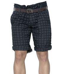 Dolce & Gabbana | Gray Cotton Net Shorts for Men | Lyst