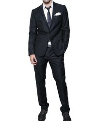 Dolce & Gabbana | Blue Jaspé Wool & Silk Blend Suit for Men | Lyst