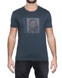 Dolce & Gabbana | Blue Vincent Gallo Printed Jersey T-shirt for Men | Lyst