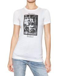 Dolce & Gabbana | White Bellucci Print Cotton Jersey T-shirt | Lyst