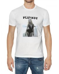 Dolce & Gabbana | White Playboy Printed Jersey T-shirt for Men | Lyst