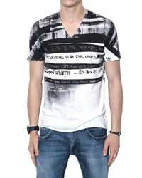 Dolce & Gabbana | Black Printed Jersey T-shirt for Men | Lyst