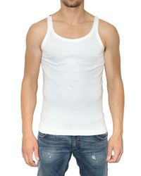 Dolce & Gabbana | White Ribbed Jersey Tank Top for Men | Lyst