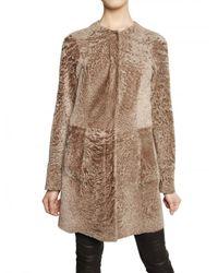 DROMe | Natural Reversible Astrakan Effect Shearling Fur | Lyst