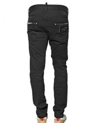 DSquared² | Black 16,5cm Cool Guy Studded Denim Jeans for Men | Lyst