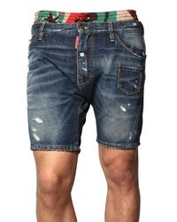 DSquared² | Blue Boxer Waist Denim Pupu Shorts for Men | Lyst