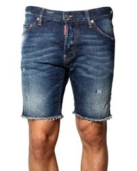 DSquared² | Blue Cool Guy Distressed Denim Shorts for Men | Lyst