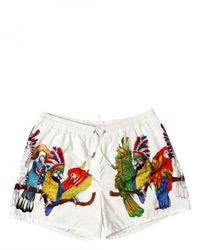 DSquared² | Multicolor Nylon Parrot Print Shorts Bathing Suit for Men | Lyst