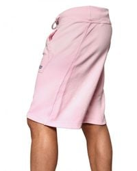 DSquared² | Pink Cotton Fleece Shorts for Men | Lyst