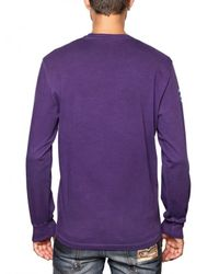 DSquared² | Purple Dean & Dan Long Sleeve Jersey T-shirt for Men | Lyst