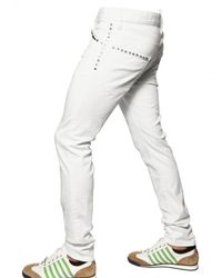 DSquared² | White 16,5cm Cool Guy Studded Denim Jeans for Men | Lyst