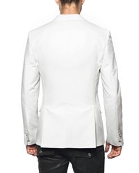 DSquared² | White Chic Cotton & Satin Beverly Hills Jacket for Men | Lyst