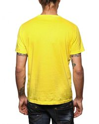 DSquared² | Yellow Cotton Jersey Horny Rabbit T-shirt for Men | Lyst