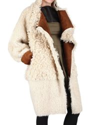 Fendi - Brown Reversible Sheepskin Fur Coat - Lyst