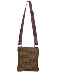 Fendi   Brown Zucca Logo Canvas Flat Bag for Men   Lyst