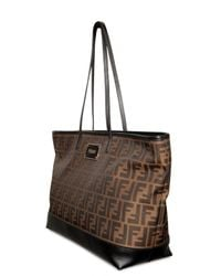 Fendi - Brown Zucca Jacquard Shopping Tote - Lyst