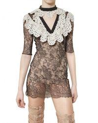 Francesco Scognamiglio   Black Short Dress   Lyst