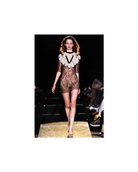 Francesco Scognamiglio | Black Short Dress | Lyst