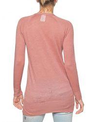 John Galliano   Pink Logo Printed Linen Cardigan Sweater   Lyst