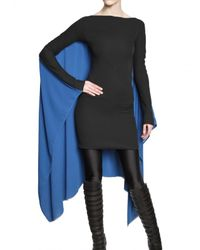 Gareth Pugh | Cape Dress in Black/blue | Lyst