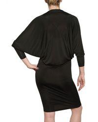 Gareth Pugh   Black Viscose Jersey Dress   Lyst