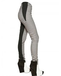Gareth Pugh | Black Stripey Stretch Silk Jersey Leggings | Lyst