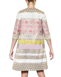 Giambattista Valli   Multicolor Lurex On Cotton Silk Jacquard Coat   Lyst