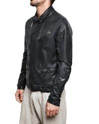 Giorgio Brato - Black Vegetable Washed Nappa Biker Leather Jac for Men - Lyst