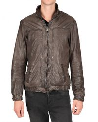 Giorgio Brato | Brown Vegetable Washed Nappa Leather Jacket for Men | Lyst