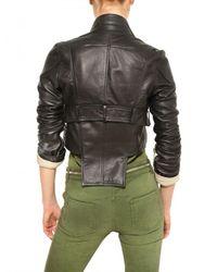 Givenchy | Black Biker Style Nappa Leather Jacket | Lyst