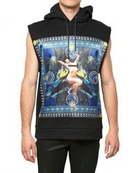 Givenchy | Black Pin Up Printed Fleece Sleeveless Sweatsh for Men | Lyst