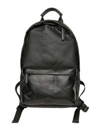 Givenchy - Black Waxed Canvas Leather Pocket Backpack for Men - Lyst