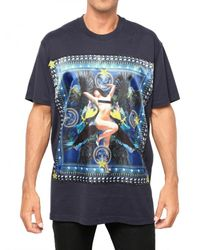 Givenchy - Blue Pin Up Print Jersey T-shirt for Men - Lyst