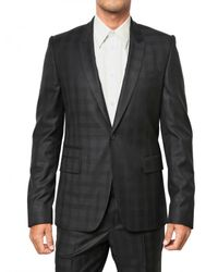 Givenchy | Blue Silk Blend Checked Cool Wool Suit for Men | Lyst
