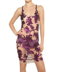 Givenchy | Purple Embroidered Tulle Dress | Lyst