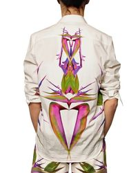 Givenchy - White Birds Of Paradise Printed Poplin Shirt for Men - Lyst