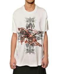 Givenchy - White Pin Up Printed Jersey Oversized T-shirt for Men - Lyst