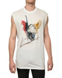 Givenchy | White Silk Blend Jersey Sleeveless T-shirt for Men | Lyst