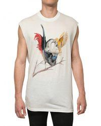 Givenchy - White Silk Blend Jersey Sleeveless T-shirt for Men - Lyst