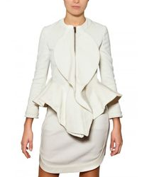 Givenchy | White Stretch Viscose Cady Jacket | Lyst