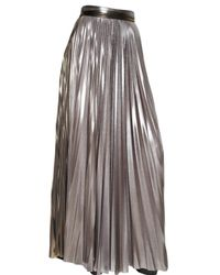Haider Ackermann | Pleated Techno Metallic Jersey Skirt | Lyst